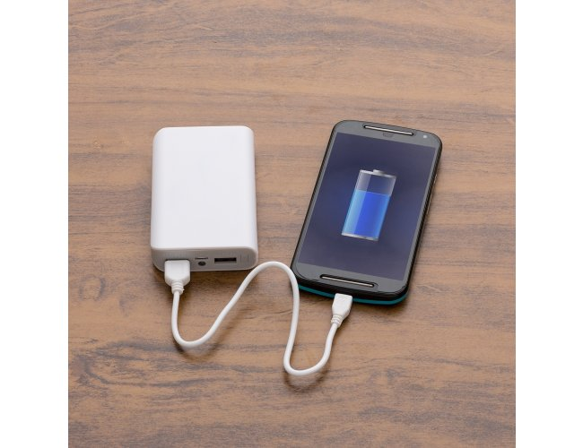 Power Bank com Lanterna e Indicador Led.