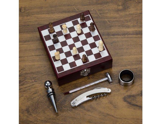 Kit Vinho c/ Xadrez 4 peças