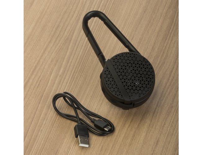 Caixa de Som Bluetooth com Mosquetão.