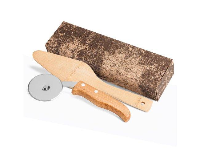 Conjunto Cortador & Espátula Bambú