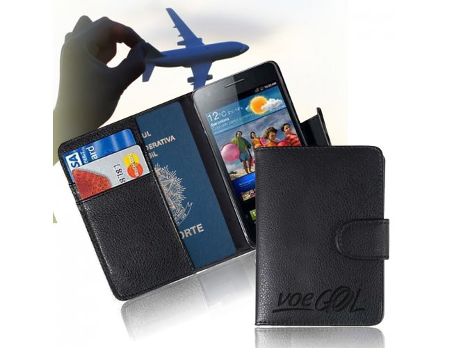 Porta Passaporte e Celular